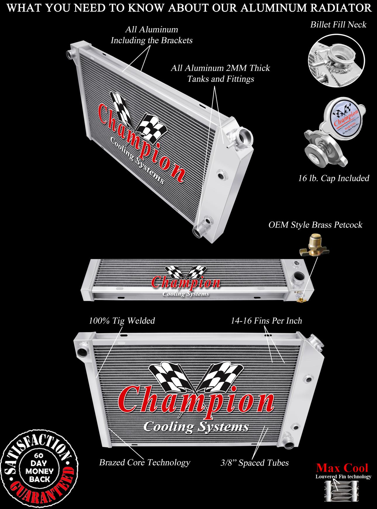 3 Row Qr Champion Radiator For 1982