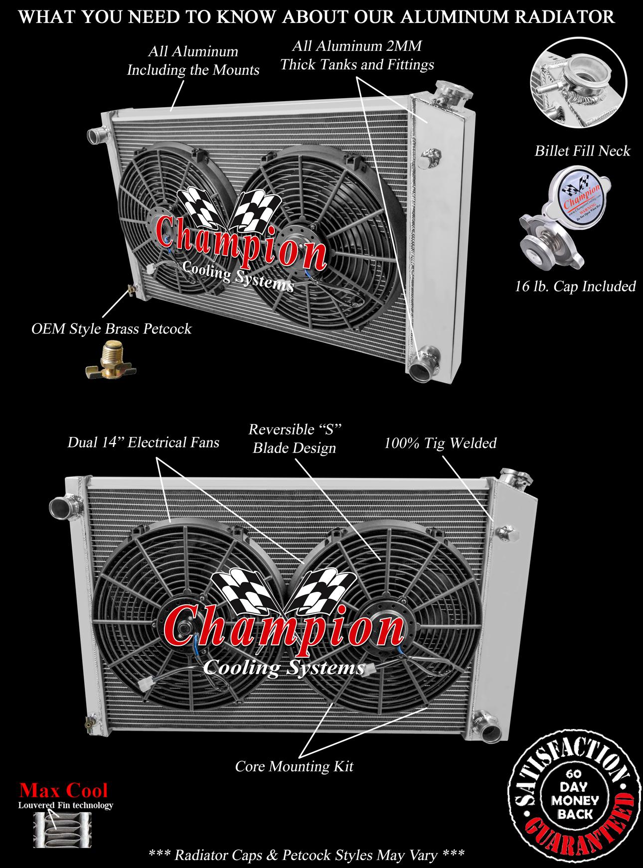 3 Row Qr Radiator 19x28 U0026quot  14 U0026quot  Fans K